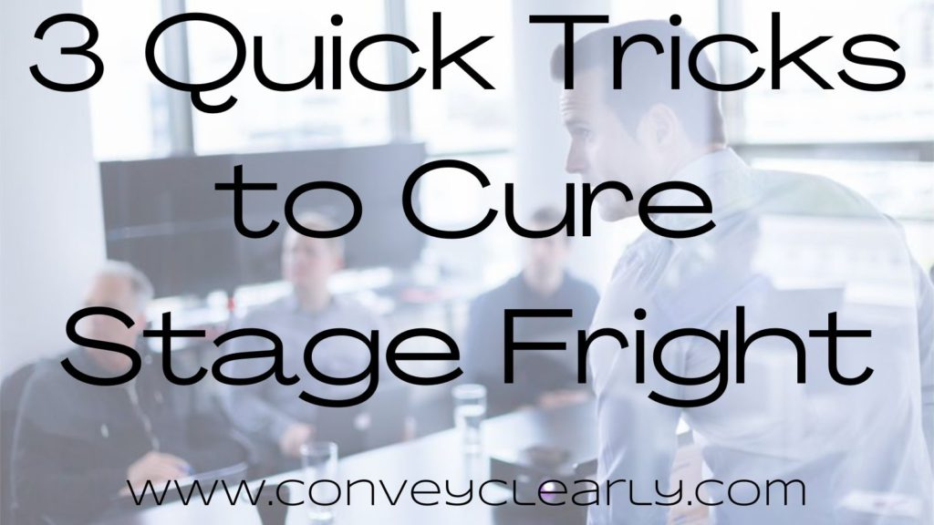 how to cure stage fright