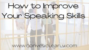 how to improve your speaking skills