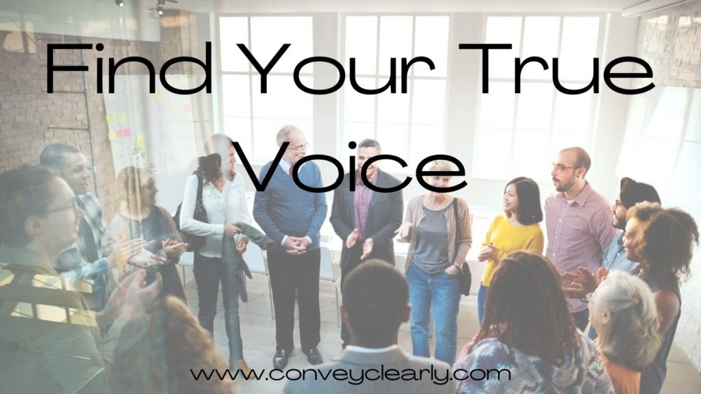 find your true voice