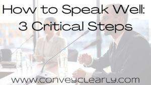 how to speak well