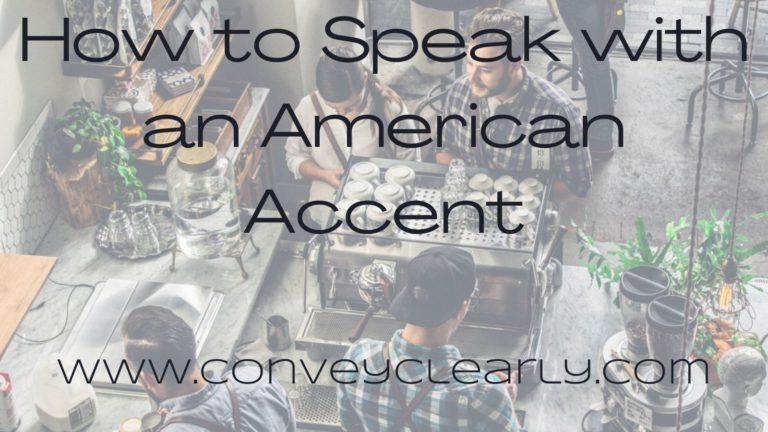 speak with an american accent
