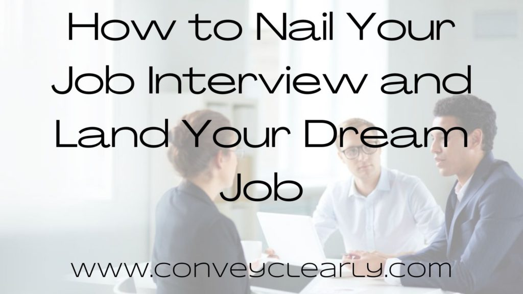 how to nail your interview
