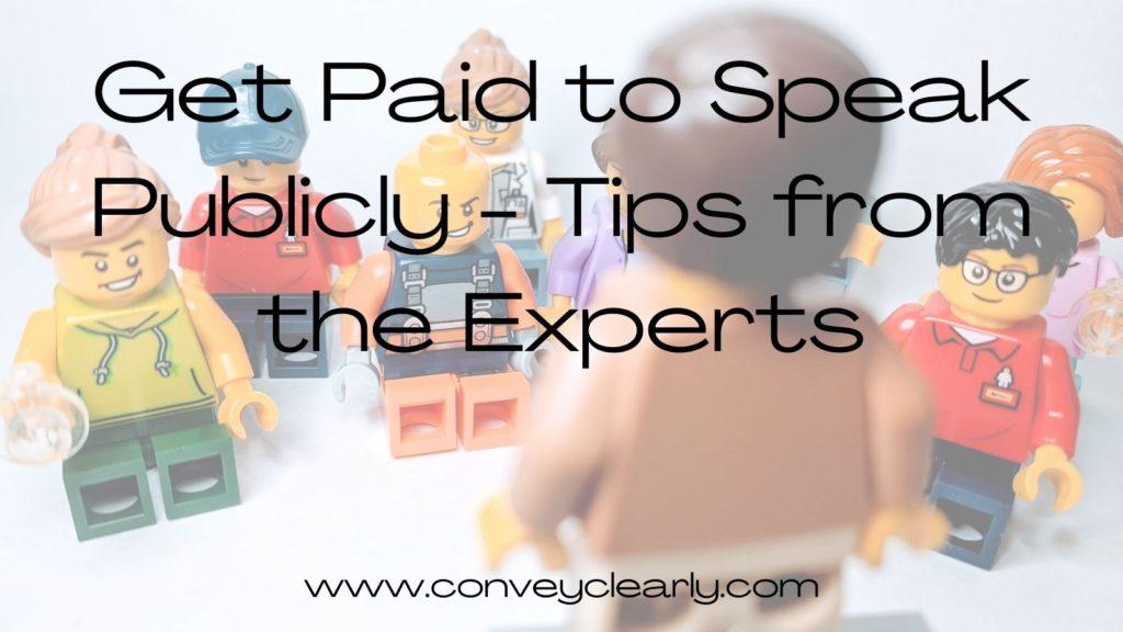 get paid to speak in public