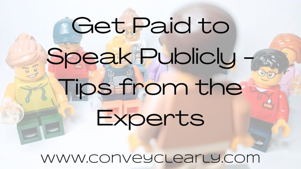get paid to speak publicly
