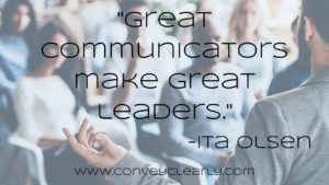 great communicators make great leaders