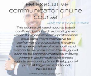 the executive communicator