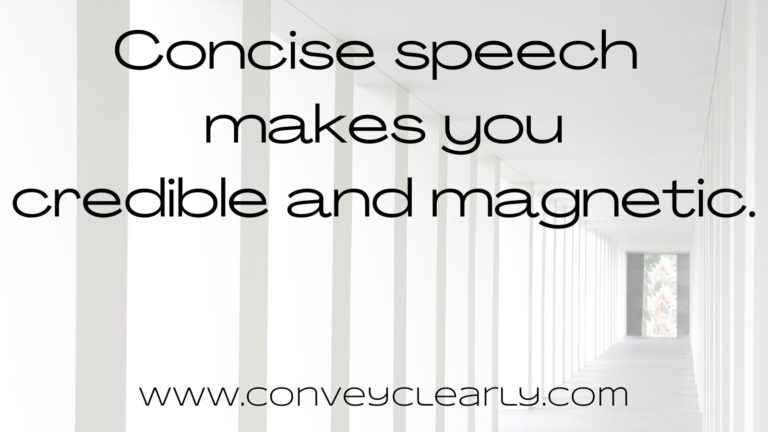 how to be more concise when speaking