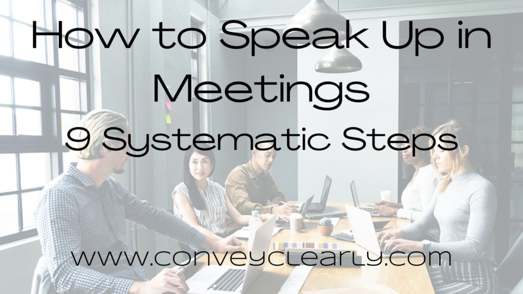 how to speak up in meetings