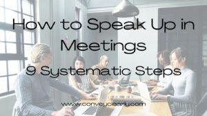 how to speak up in meetings