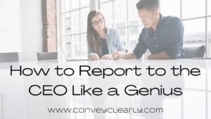 how to report to the ceo like a genius