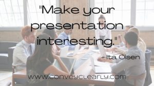your presentation is boring