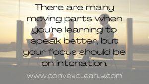 focus on intonation for better speaking