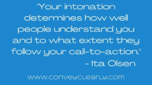 how to use intonation to be persuasive with ita olsen