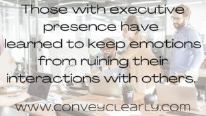 how to have executive presence