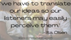 learn to translate your ideas
