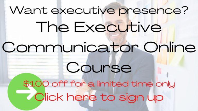 Executive Communicator Online Course