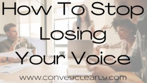 how to stop losing your voice