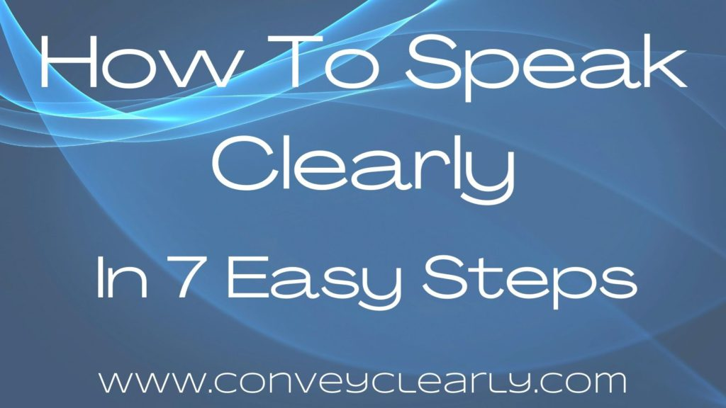 how to speak clearly