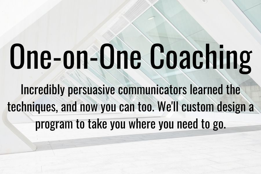 Convey one-on-one coaching