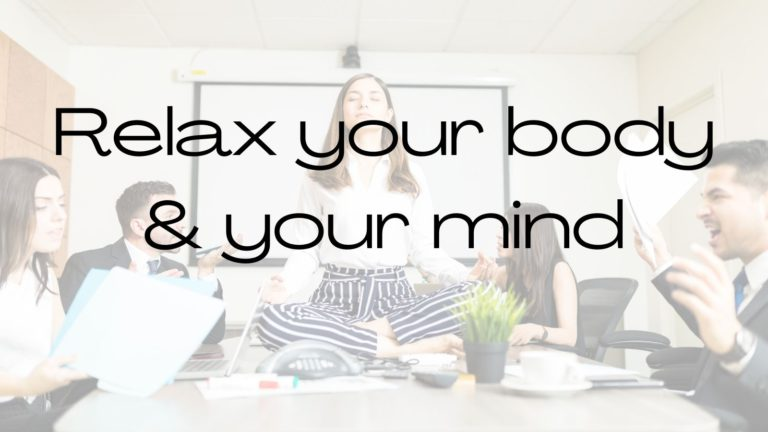 how to be calm in meetings